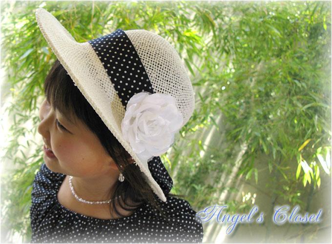子供用サマーハット(水玉)/子供ドレスのAngel'sCloset