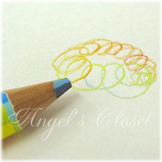 音楽鉛筆(カラーマン柄虹色鉛筆)/Angel'sCloset