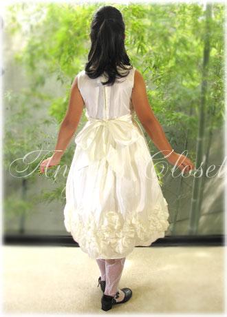 フリルウェーブサテンドレスCK864/子供ドレスのAngel'sCloset