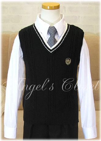 男の子用スクールニットベスト(CAT53783)/子供スーツのAngel'sCloset