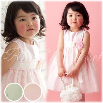 ヴィンテージサテン&チュールベビードレス(SKB402)/子供ドレスのAngel'sCloset