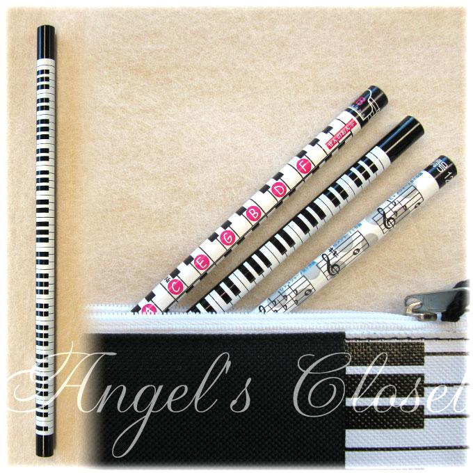 音楽鉛筆(鍵盤柄2Bえんぴつ)