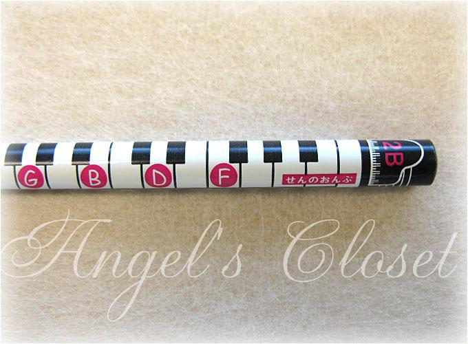 音楽鉛筆(鍵盤音名柄2Bえんぴつ)/Angel'sCloset