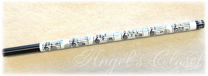 音楽鉛筆(調号12長調柄2Bえんぴつ)