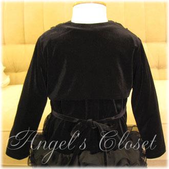 ラッフルエッジ&フロントタイベルベットボレロ/子供ドレスのAngel'sCloset