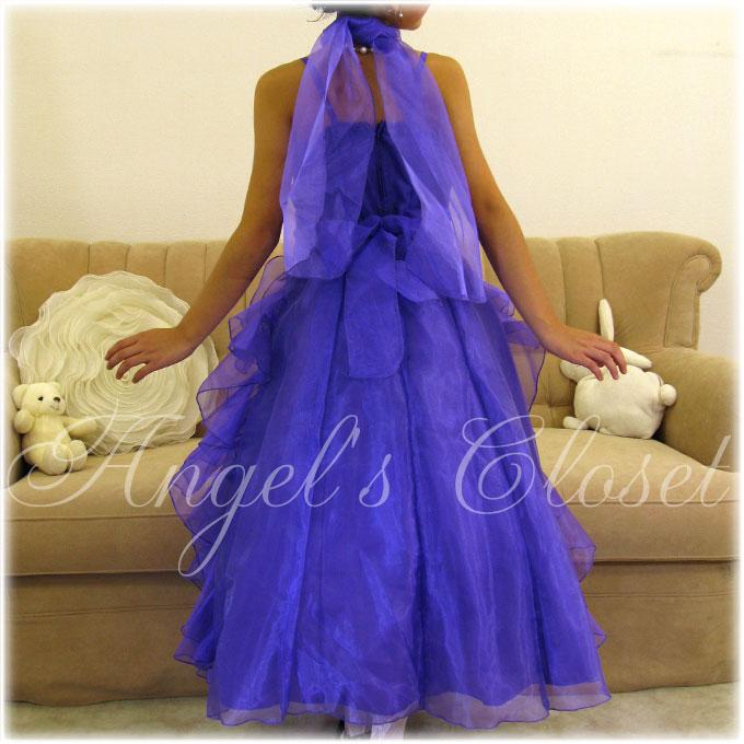 縦フリルエレガントオーガンジードレス(JKO3299)/子供ドレスのAngel'sCloset