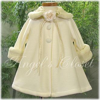 ベビーホワイトコートKD166/子供ドレスのAngel'sCloset