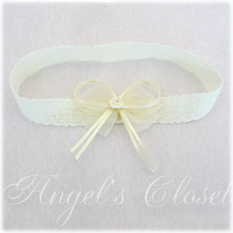ミニローズオーガンジーベビーレースヘアバンド/Angel'sCloset