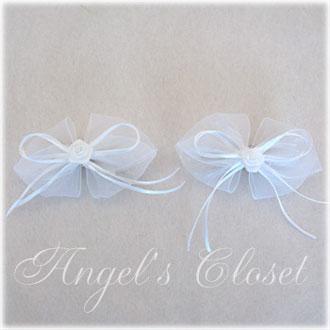 ミニローズオーガンジーヘアバレッタ/子供ドレスのAngel'sCloset