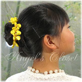 ヘアゴムフラワー(QNH6)/子供ドレスのAngel'sCloset