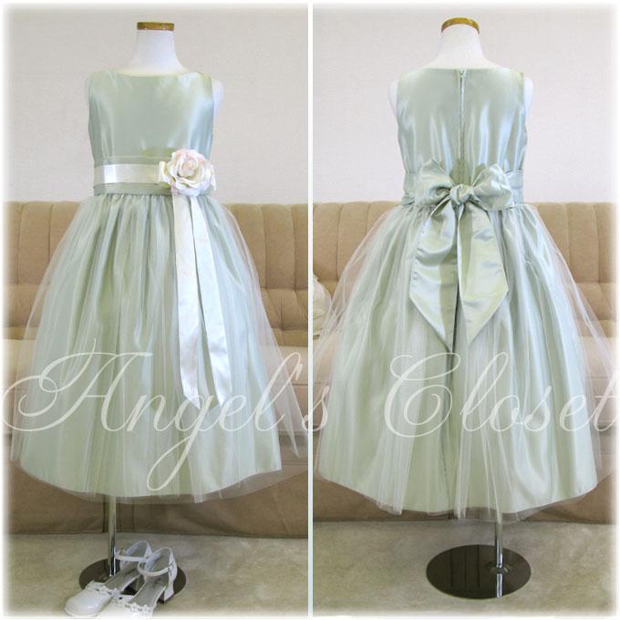 ヴィンテージサテン&チュールドレス(SK402)/子供ドレスのAngel'sCloset